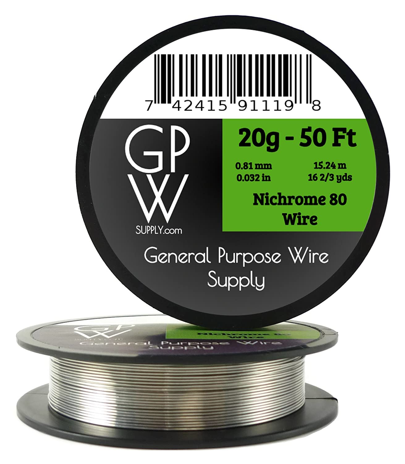 GPW Supply - Nichrome 80 20g 50 ft Electronic Resistance Wire ...