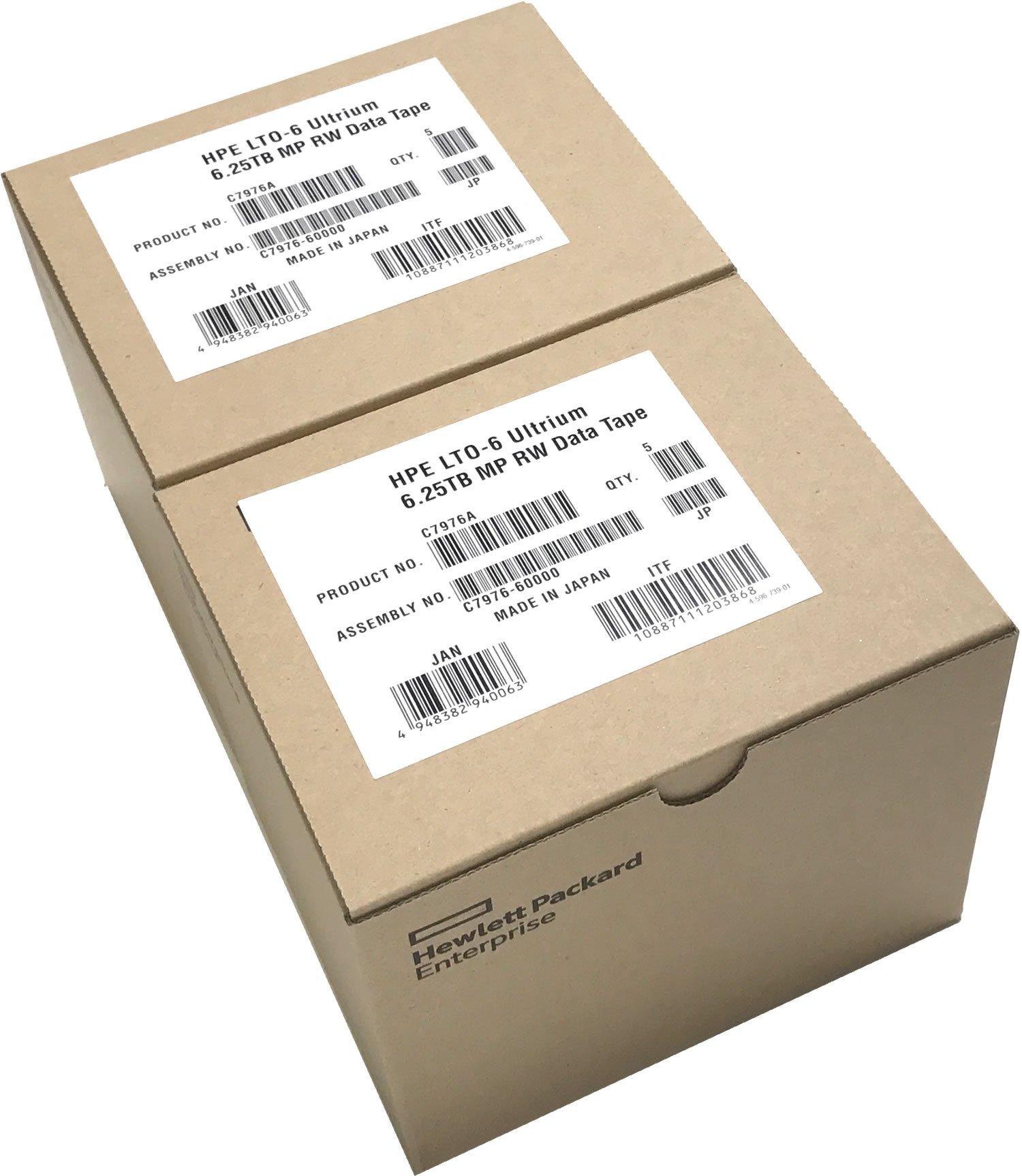 10-Pack HPE LTO 6 Ultrium C7976A (2.5/6.25 TB) Data Cartridge by HP
