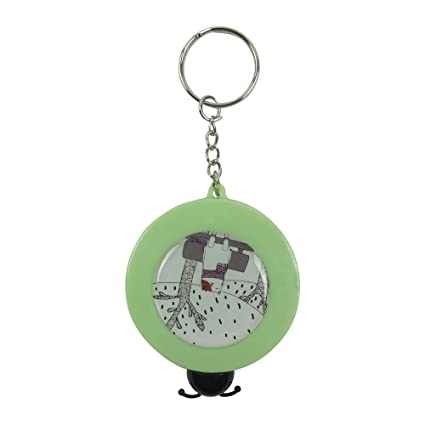 Bag of Small Things Measuring Inch Automatic Tape (Green, 5 cm x 1.6 cm x 5 cm)