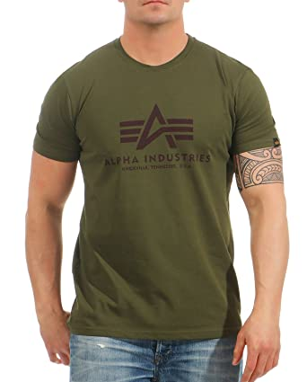 Alpha Industries Herren Oberteile/T-Shirt Basic Grün L