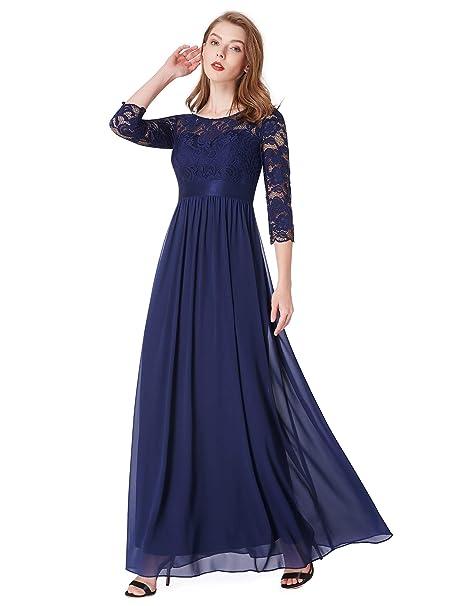 f27c828d1d7 Ever-Pretty Vestidos de Damas de Honor Elegante para Boda Ceremonia De  Vuelo Encaje Floral Precioso 07412  Amazon.es  Ropa y accesorios
