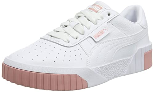 Buy Puma Women's Cali WN's White-Rose Gold Leather Sneakers ...
