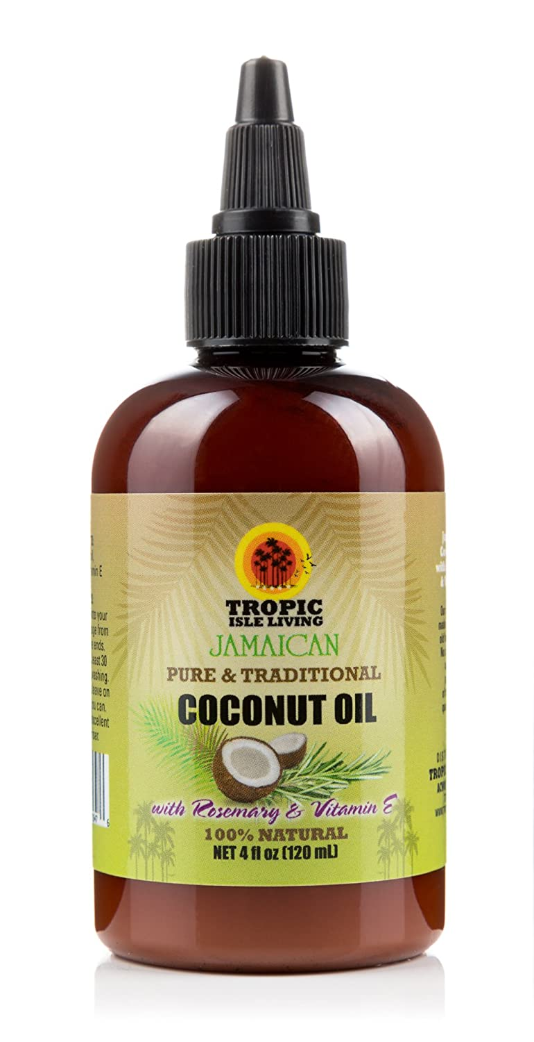 Tropic Isle Living Coconut Oil with Rosemary & Vitamin E-4oz TILCOCOROSEVITE001