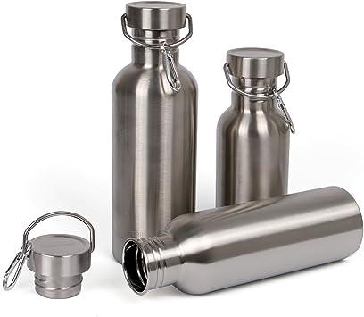 Zauber Botella de Agua Acero Inoxidable 500ml / 750ml / 1l BPA ...