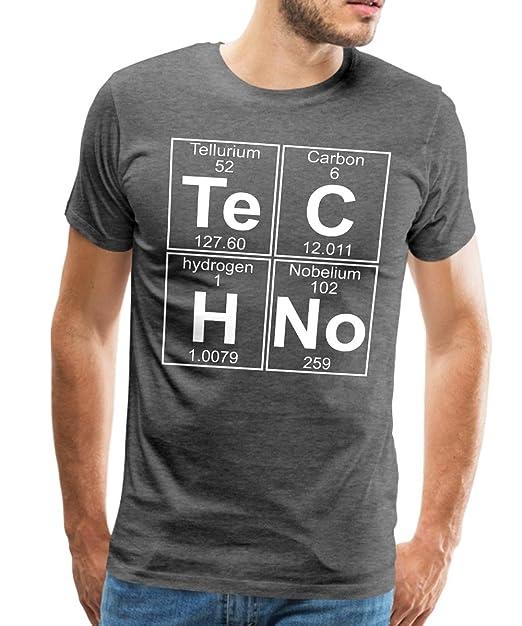 Techno Chimica tavola Periodica Te C H No Uomini Premium T-Shirt di Spread  Shirt   afe85cb47dae