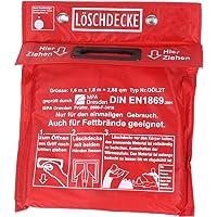 Löschdecke 1,60 x 1,80 m in Tasche zum Aufhängen mit Grifftaschen zur sicheren Handhabung