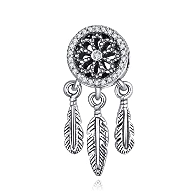 Buy Peimko Dreamcatcher Lucky Girl Charms Bead Fit For Pandora Bracelets Sterling Silver Dream Catcher Charms For Snake Bracelet For Women Teens Online In Indonesia B08l67qnk2