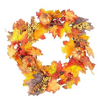 Amazon Com Hp95 Fall Wreath For Front Door 40cm 15 75 Inch Silk