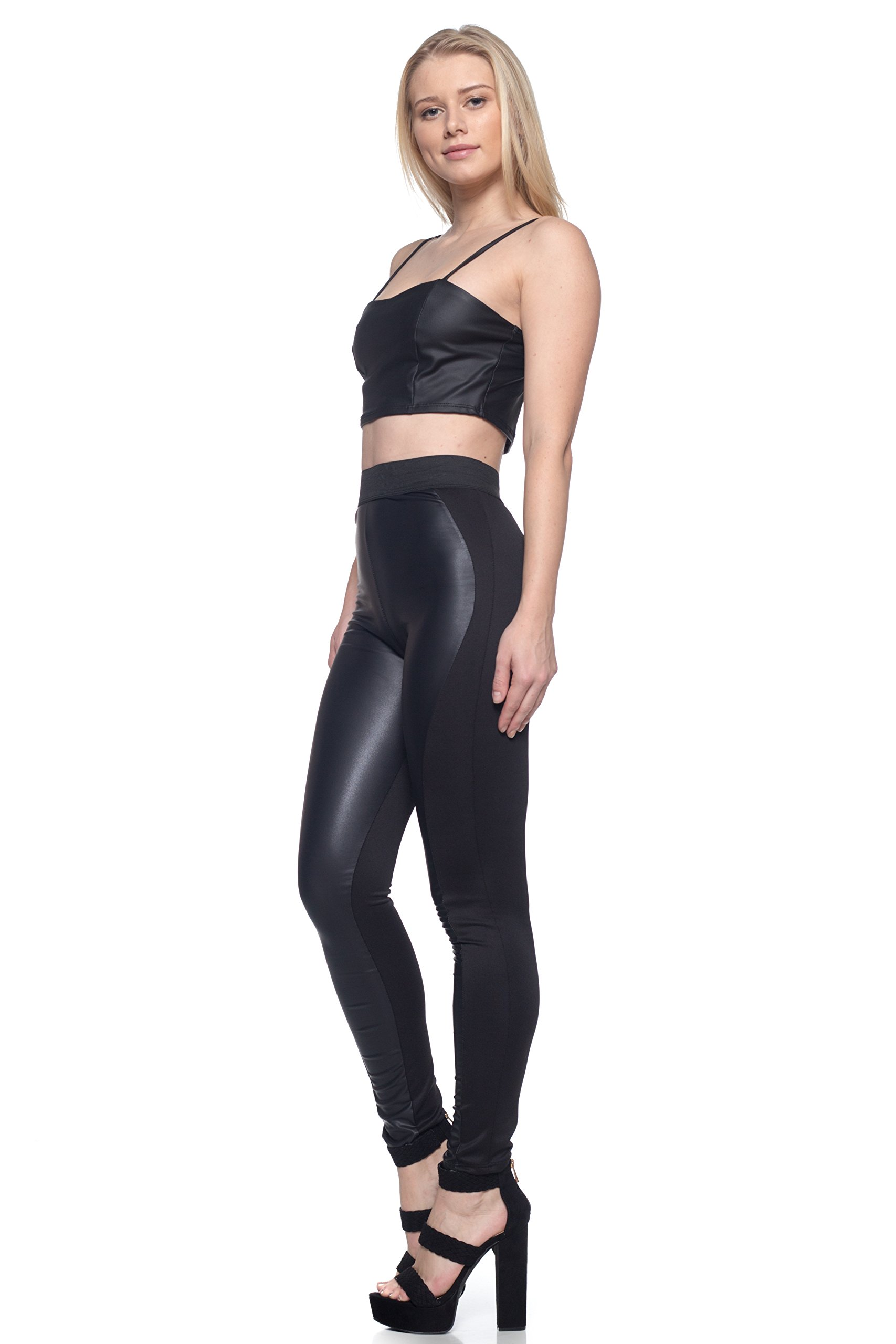 J2 Love Made in USA Front Faux Leather Moto Legging (up to 5X) by Cemi Ceri (Image #3)