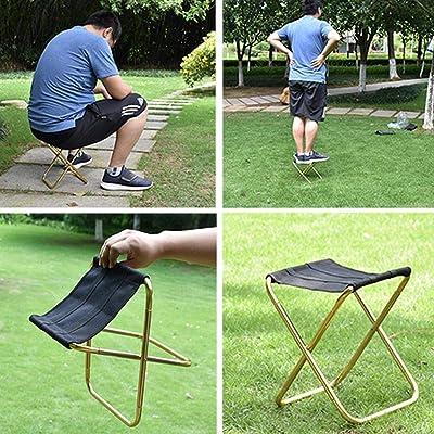 Wiixiong Aluminium Oxford Cloth Outdoor Fishing Chair Foldable Picnic Fishing Stool : Garden & Outdoor