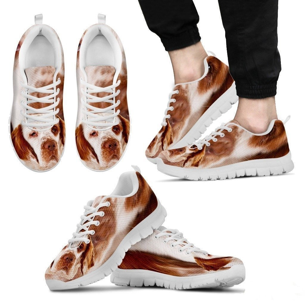 Clumber Spaniel Lovers E/&E Solutions Clumber Spaniel Dog Print Running Shoes for Men-