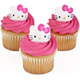Hello Kitty Officially Licensed 24 Cupcake Topper Rings