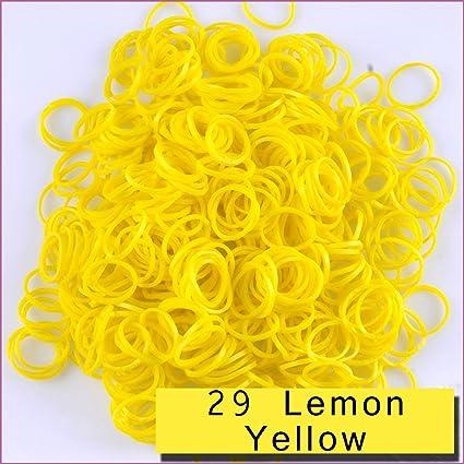 Dark Brown 3600 PCS 144 Clips Bands Refills for Loom Rainbow Bracelet Dress Making TM Kirinstores