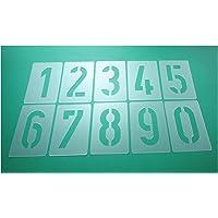 Números de plantillas Juego de 003515, números 0–9/15cm