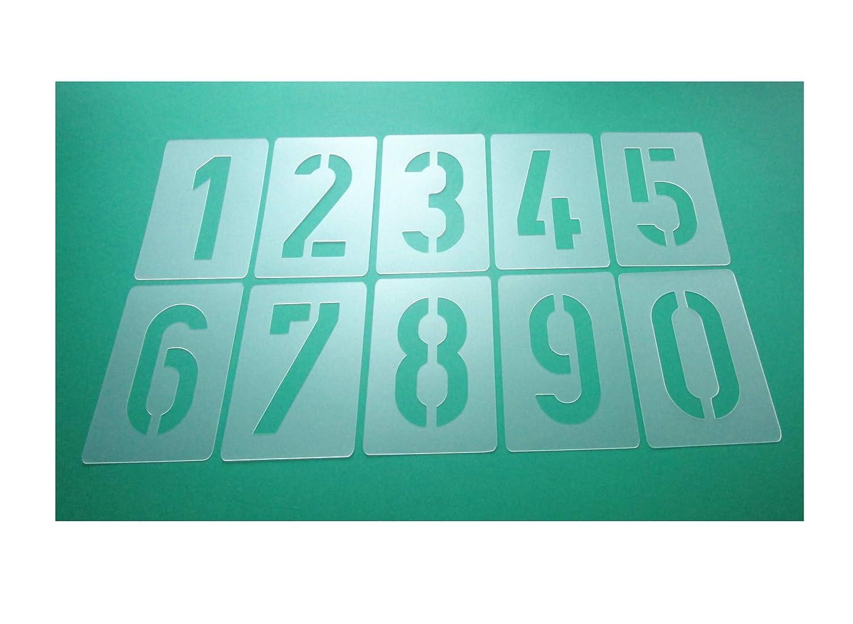 Nú meros de plantillas Juego de 035 –  200, nú meros 0 –  9/20 cm alto, 10 individuales Plantillas números 0-9/20cm alto 10individuales Plantillas HBM-SCHABLONENSHOP