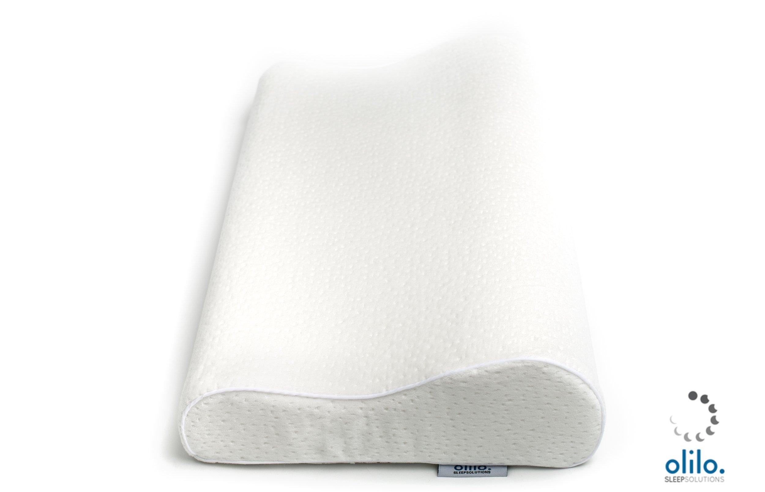 Olilo Sleep Solutions Contour German Engineered Memory Foam Pillow (Queen Soft)