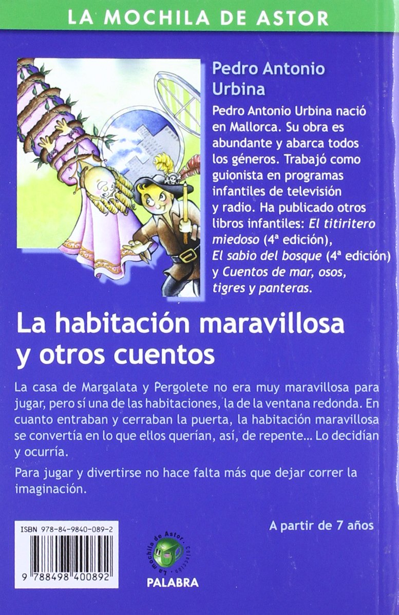 HABITACION MARAVILLOSA Y OTROS CUENTOS, LA: PEDRO ANTONIO URBINA: 9788498400892: Amazon.com: Books