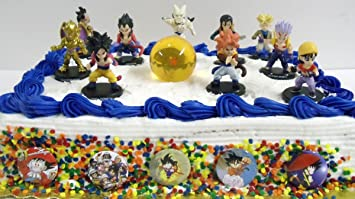 Dragon Ball Z 17 Piece Cake Topper Set with 10 Dragonball Z Figures