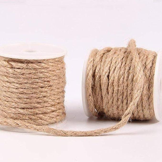 ... Cuerda de Yute Industrial Resistente, Cuerda de Embalaje para Regalos, Manualidades, decoración Festiva y Aplicaciones de jardinería y Reciclaje.
