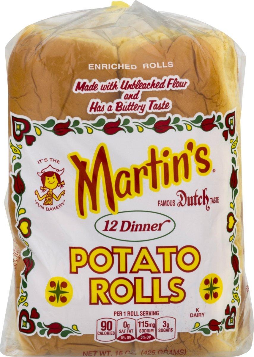 Martin's Dinner Potato Rolls- 12 pack 15 oz (2 bags)