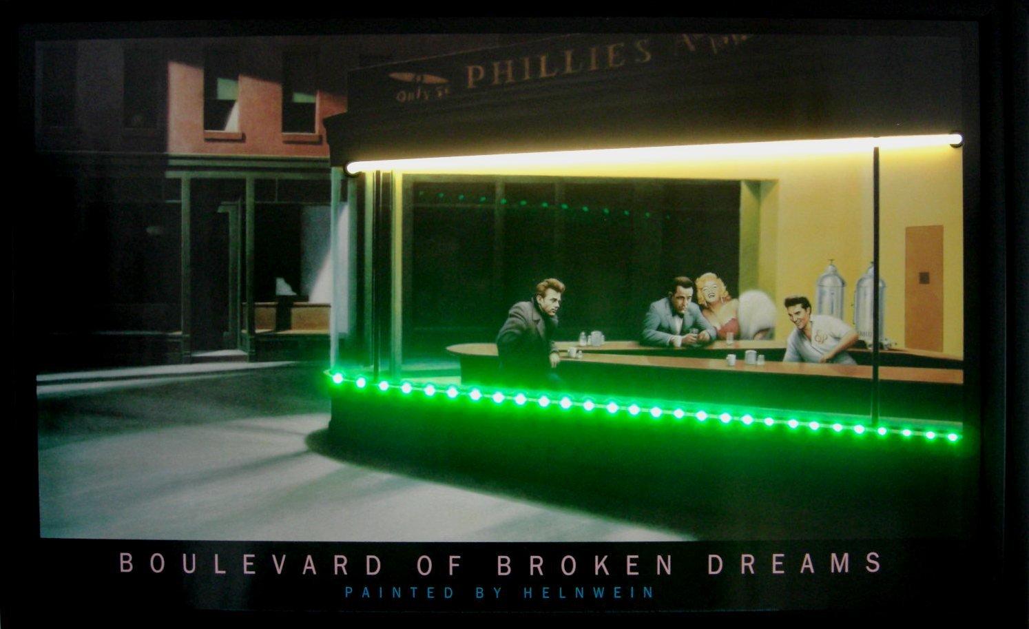 Amazonde Led Neon Bild Boulevard Of Broken Dreams Neonreklame