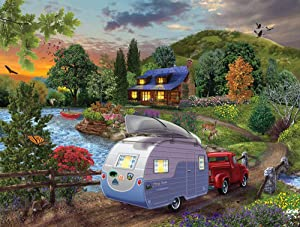 SunsOut Puzzles Campers Coming Home0 1000 Piece Jigsaw Puzzle