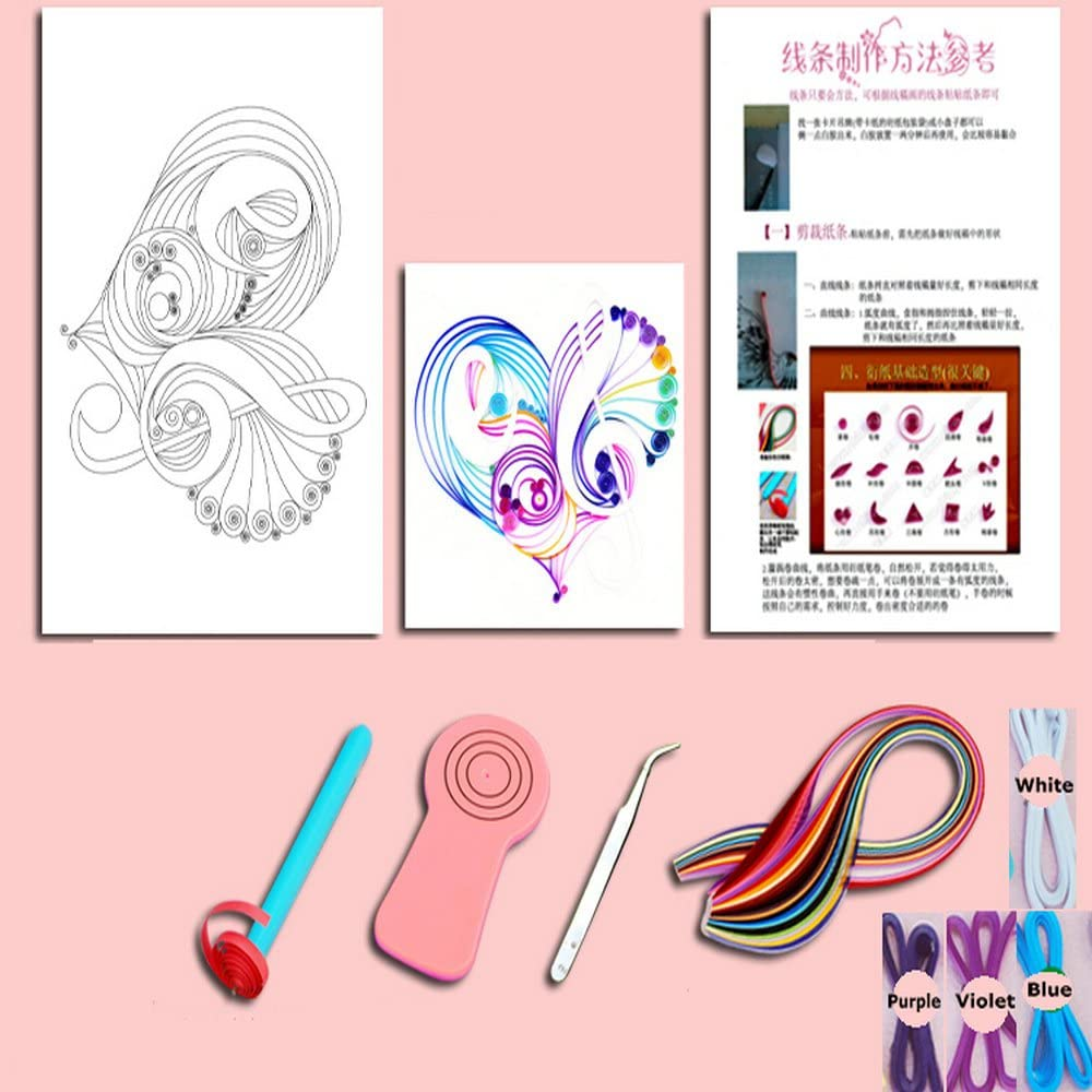 Cat Quilling Kit With Paper Template Tools Strips for Masterpiece DIY Quilling Paper Craft Set