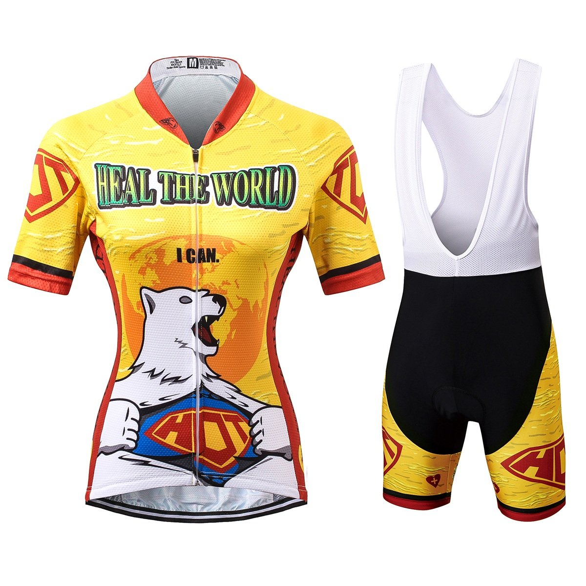 Thriller Rider Sports® Damen Heal The World Sport & Freizeit MTB Fahrradbekleidung Radtrikot