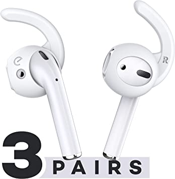 Amazon Com Earbuddyz 2 0 Ear Hooks And Covers Accessories Compatible With Apple Airpods 1 Airpods 2 Or Earpods Headphones Earphones Earbuds 3 Pairs Clear Electronics