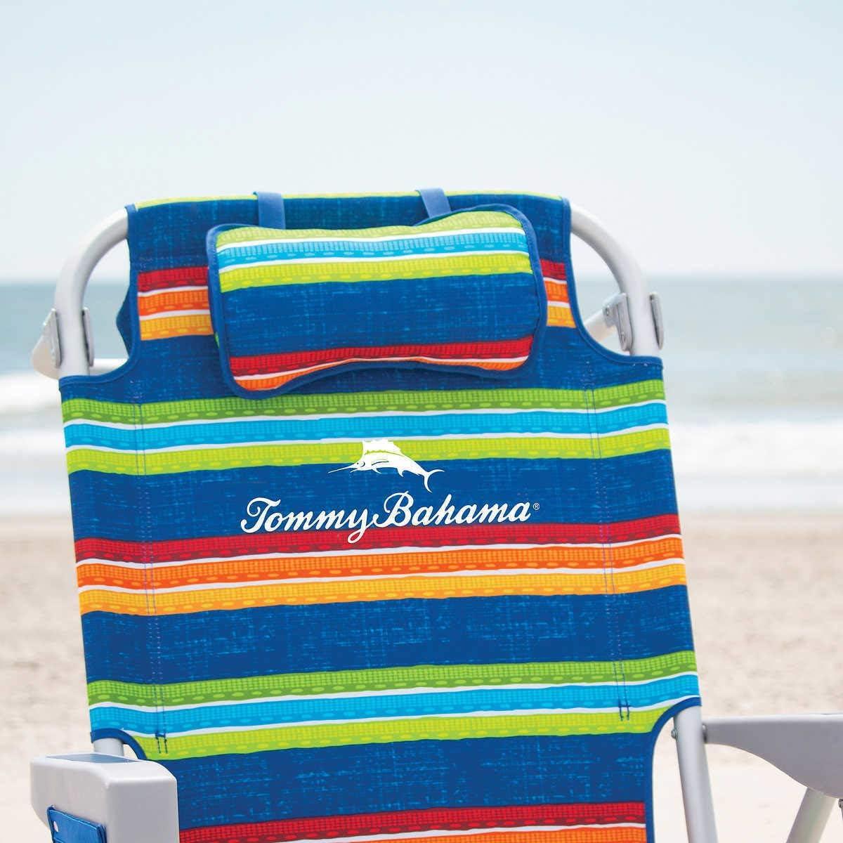 TECNOVOZ Silla Playa Plegable Asas Tipo Mochila Tommy Bahamas 2000998 Rayas ….
