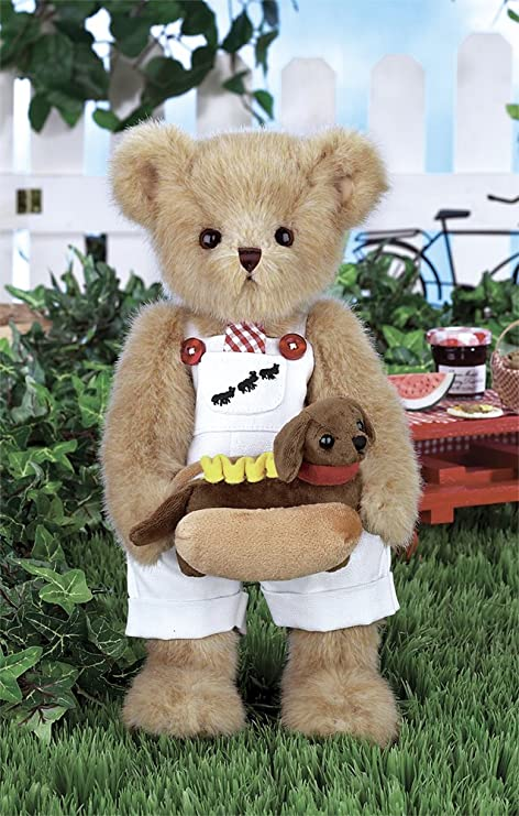 b72e6af4df8 Image Unavailable. Image not available for. Color  Bearington Harvey Teddy  Bear and Hot Doggie Stuffed Animal Toy ...
