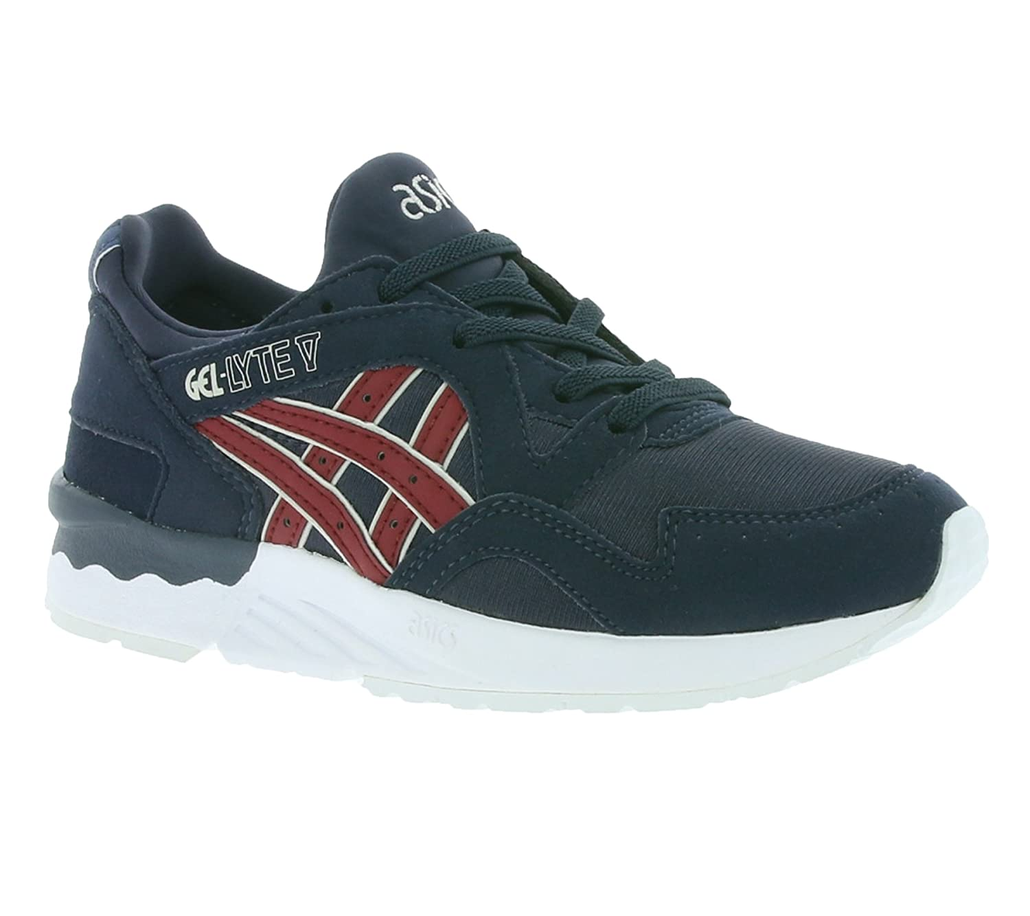 Asics Gel-Lyte V PS, Unisex-Kinder Sneakers  K11|INDIA INK / BURGUNDY