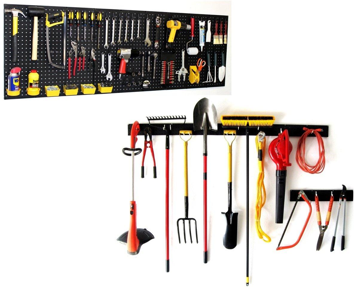 Amazon.com: WallPeg Garden Tool Holder U0026 Pegboard Tool Storage AM  242+044B 3: Garden U0026 Outdoor