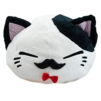 Nemu Neko nemuneko Sleepy Cat Peluche Nœud Rouge Blanc 40 x 30 x 22 cm Peluche