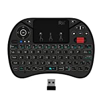 (2018 New Backlit)Rii i8X Wireless Multi-media PortableTouch keyboard with Scroll button,Handheld Remote,LED Backlit ,Rechargeable for Raspberry Pi 2/3,KODI,XBOX 360,Android TV Box, HTPC, Windows 7 8 10