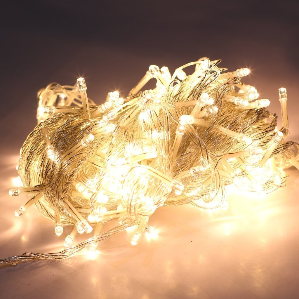 Amazon lemonbest warm white 200 led light string christmas amazon lemonbest warm white 200 led light string christmas party stage wedding fairy lighting show rope lights 656ft garden outdoor mozeypictures