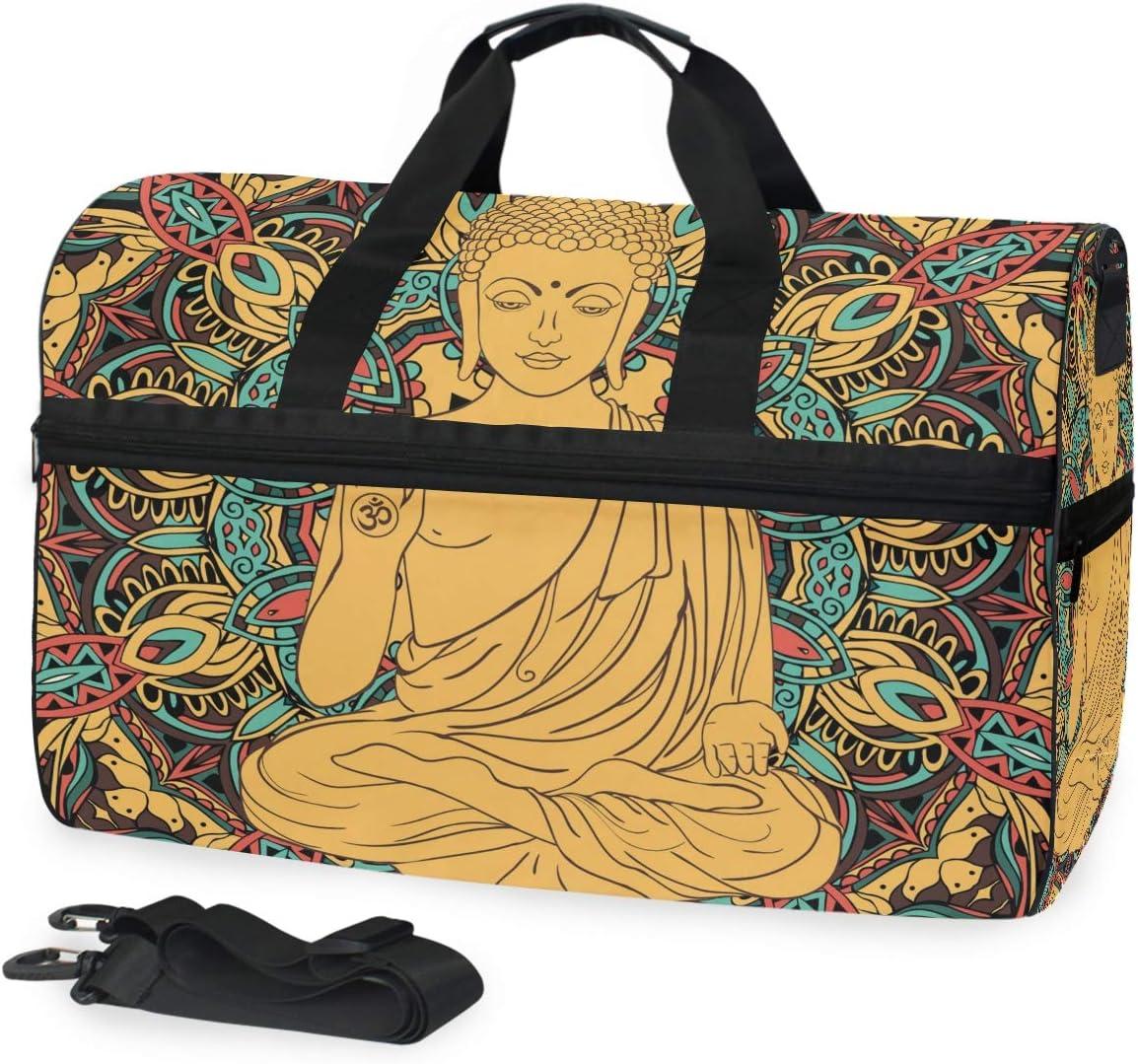 Montoj - Bolsa de Viaje con diseño de Buda, con Correa Ajustable