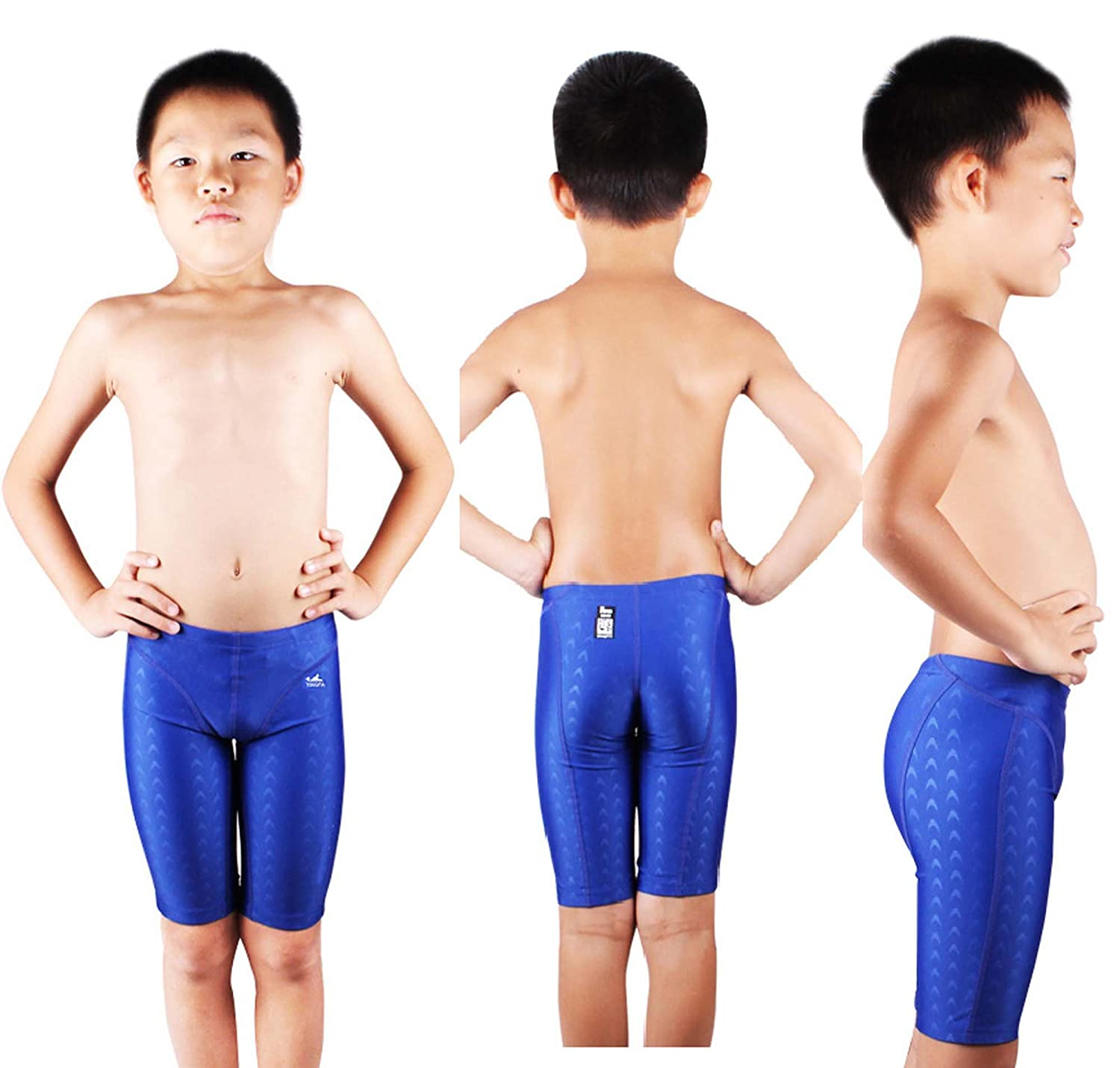 f272810f11 Amazon.com : YingFa FINA Approved, 9205-2 Sharkskin Swimming Jammers for boy  Racing and Training Swimming Trunks Blue Size 26 : Sports & Outdoors