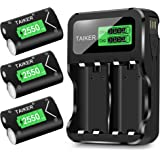 TAIKER Compatible with Xbox One Battery 3 Pack x 2550mAh Rechargeable Controller Battery and Charger for Xbox One/Xbox One S/