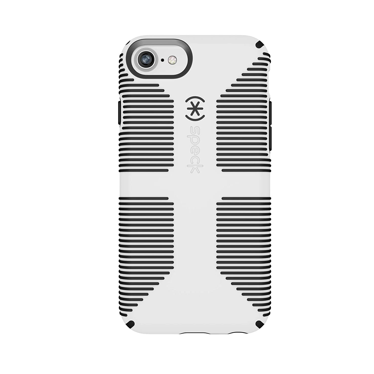 finest selection d1d48 e294a Speck Products CandyShell Grip iPhone 7 Case (Also Fits iPhone 6 and iPhone  6S), White/Black
