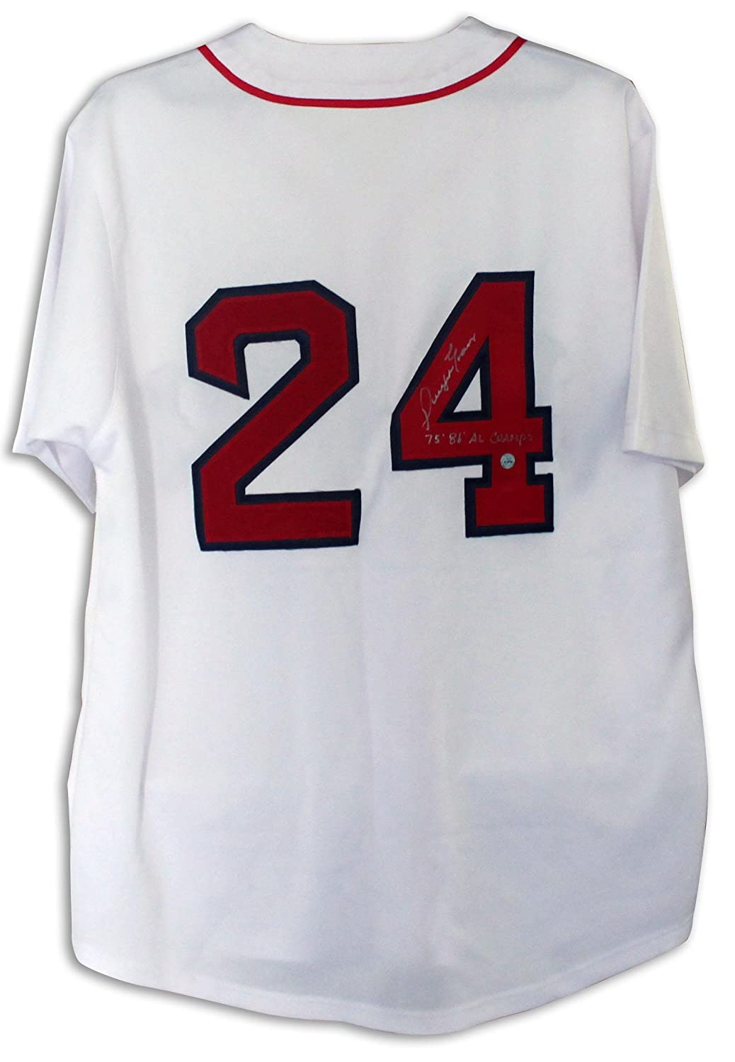 35102bf67 low-cost Dwight Evans Boston Red Sox Autographed White Jersey Inscribed