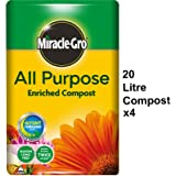 4x Miracle Gro All Purpose Growing Compost 20L Easy To Carry No Pain (4)
