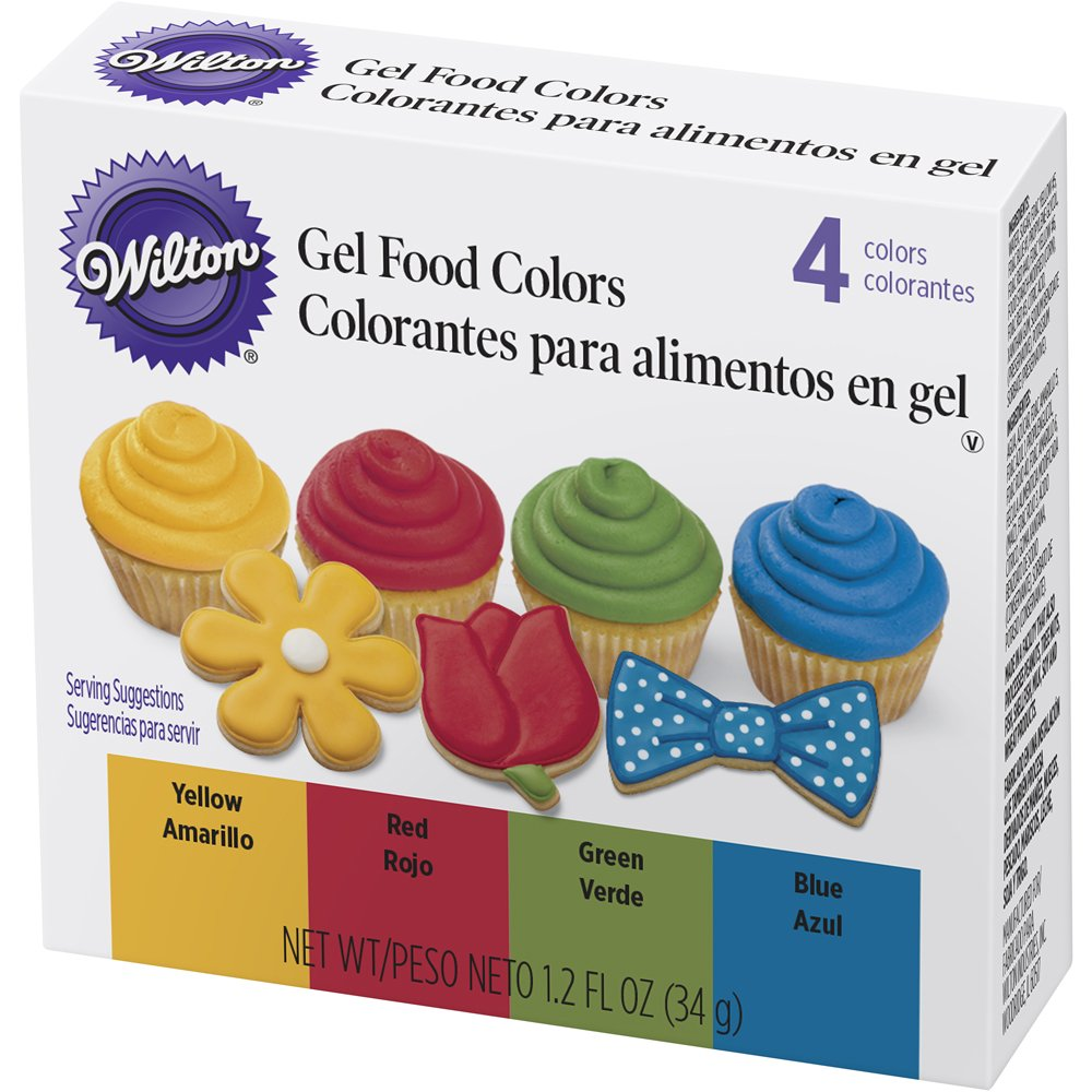 Wilton 601-5581 4 Piece Primary Color Gel Icing Set