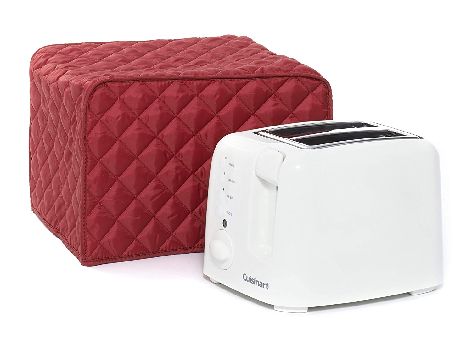 CoverMates – Toaster Cover – 11W x 8D x 8H – Diamond Collection – 2 YR Warranty – Year Around Protection - Red