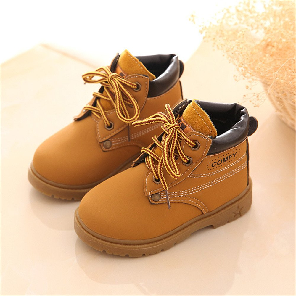 FG21ds21g New Winter Fashion Children Leather Snow Boots for Girls Boys Warm Martin Boots Child Baby Toddler Boots