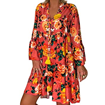 Amazon.com: Clearance! Swiusd Womens Retro Plus Size Dresses ...