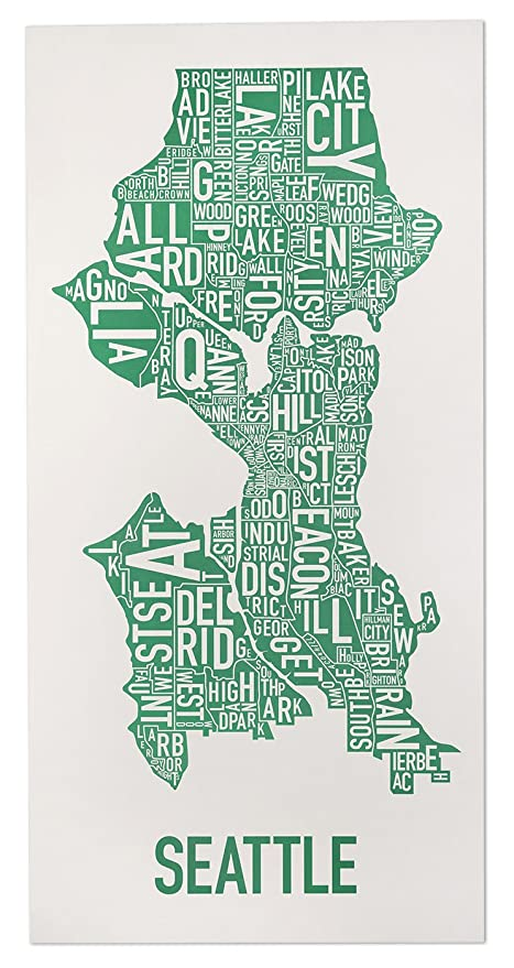 Amazon.com: Seattle Neighborhoods Map Art Poster, Grey & Green, 16 on us city map, puget sound map, victoria bc map, toronto canada map, victoria canada map, mt st helens map, lake chelan map, safeco field map, mount rainier map, oregon map, pike place market map, pacific northwest map, cascade mountains map, king county map, united states map, district of columbia map, alki point map, capitol hill map, washington map, usa map,