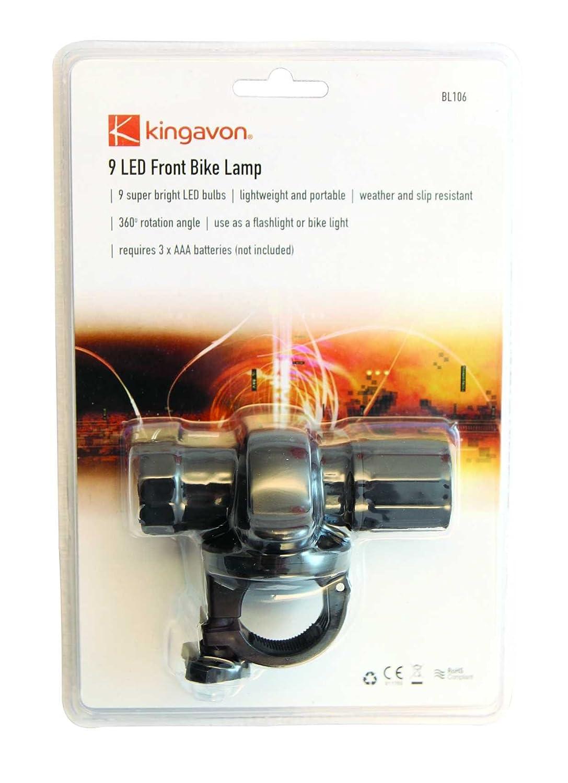 Kingavon BB-BL106 9 LED Lampe avant pour v/élo
