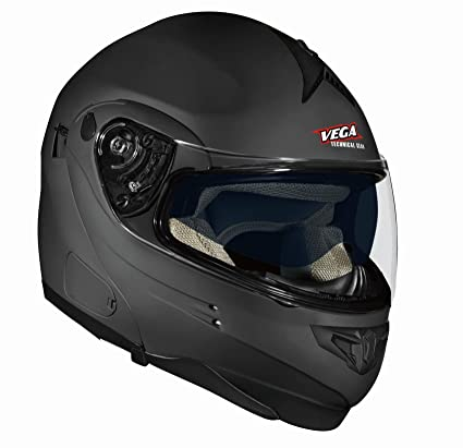 Vega Summit 3.1 Full Face Modular Helmet (Flat Black, Small)