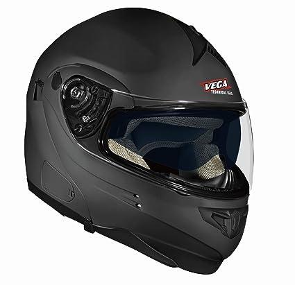 Vega Summit 3.1 Full Face Modular Helmet (Flat Black, Small)